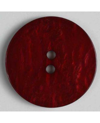 Kunststoffknopf mit unebener Oberfläche - Größe: 23mm - Farbe: rot - Art.Nr. 320591