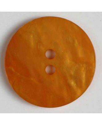 Kunststoffknopf mit unebener Oberfläche - Größe: 23mm - Farbe: orange - Art.Nr. 320593