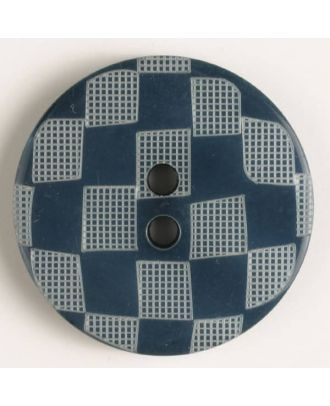 Modeknopf  mit Karomuster - Größe: 38mm - Farbe: marine blau - Art.Nr. 450041