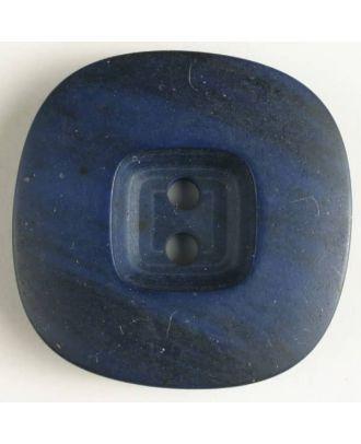 2-loch Kunststoffknopf marmoriert mit viereckiger Vertiefung - Größe: 28mm - Farbe: marineblau - Art.Nr. 370365