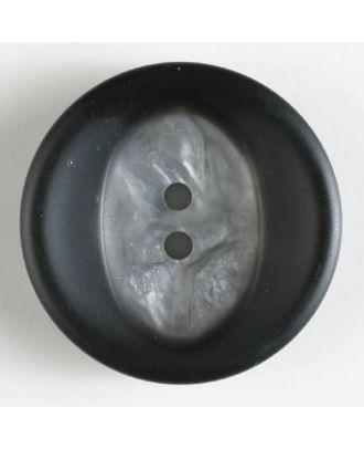 Polyesterknopf mit Marmorierung - Größe: 34mm - Farbe: schwarz - Art.Nr. 400117