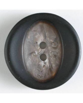 Polyesterknopf mit Marmorierung - Größe: 34mm - Farbe: braun - Art.Nr. 400119
