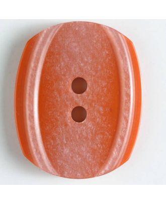 2-loch Kunststoffknopf wie angepudert  - Größe: 34mm - Farbe: orange - Art.Nr. 400129