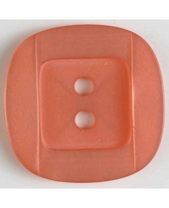 Kunsstoffknopf viereckig, angedeuteter Rand und Mittelteil als abgerundetes Quadrat 2-Loch - Größe: 34mm - Farbe: pink - Art.Nr. 400157