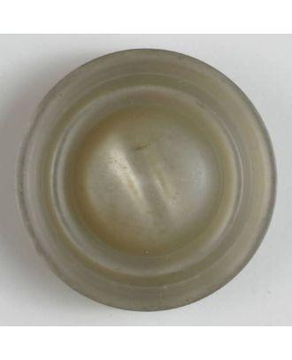 Polyesterknopf mit Öse, schickem Rand und leichter Wölbung - Größe: 34mm - Farbe: beige - Art.Nr. 400174