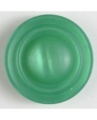 Polyesterknopf mit Öse, schickem Rand und leichter Wölbung - Größe: 34mm - Farbe: grün - Art.Nr. 400179