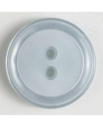 Polyesterknopf, schlichtes Design mit einfachem Rand und 2 Löchern - Größe: 30mm - Farbe: blau - Art.Nr. 380279