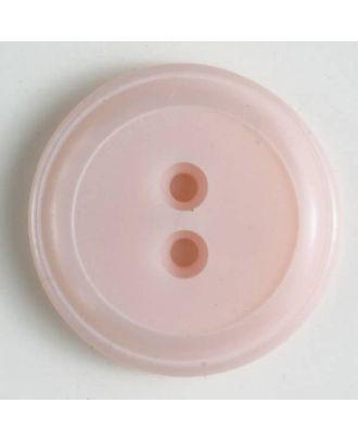 Polyesterknopf, schlichtes Design mit einfachem Rand und 2 Löchern - Größe: 18mm - Farbe: pink - Art.Nr. 310739