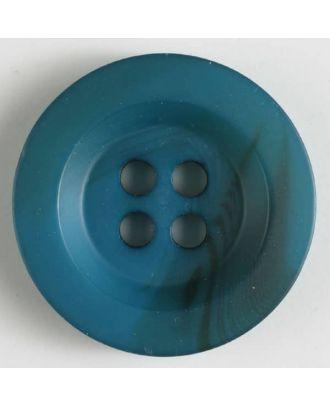 Polyesterknopf Polyesterknopf minimal schattiert, mit breitem Rand, 4-loch - Größe: 34mm - Farbe: blau - Art.Nr. 400209