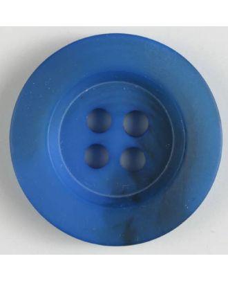 Polyesterknopf minimal schattiert, mit breitem Rand, 4-loch - Größe: 34mm - Farbe: blau - Art.Nr. 400167