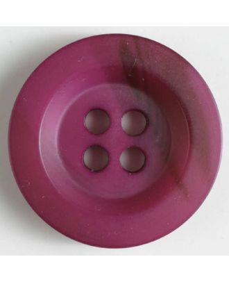 Polyesterknopf minimal schattiert, mit breitem Rand, 4-loch - Größe: 34mm - Farbe: lila - Art.Nr. 400210