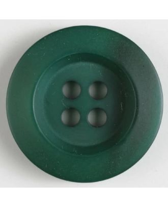 Polyesterknopf minimal schattiert, mit breitem Rand, 4-loch - Größe: 34mm - Farbe: grün - Art.Nr. 400168