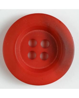 Polyesterknopf minimal schattiert, mit breitem Rand, 4-loch - Größe: 34mm - Farbe: rot - Art.Nr. 400170