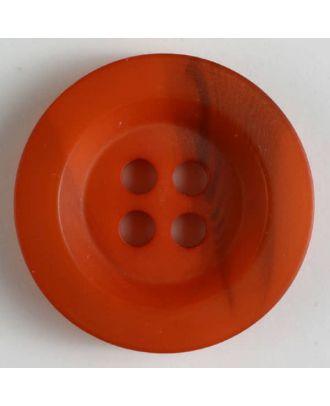 Polyesterknopf minimal schattiert, mit breitem Rand, 4-loch - Größe: 34mm - Farbe: orange - Art.Nr. 400212
