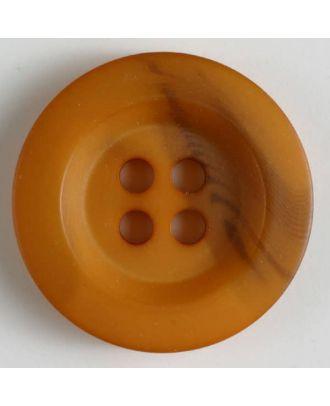 Polyesterknopf minimal schattiert, mit breitem Rand, 4-loch - Größe: 34mm - Farbe: orange - Art.Nr. 400213