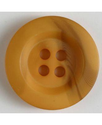 Polyesterknopf minimal schattiert, mit breitem Rand, 4-loch - Größe: 34mm - Farbe: orange - Art.Nr. 400214