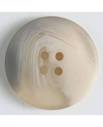 Polyesterknopf mit auffälliger Marmorstruktur mit 4 Löchern -  Größe: 19mm - Farbe: beige - Art.Nr. 330810
