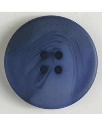 Polyesterknopf mit auffälliger Marmorstruktur mit 4 Löchern -  Größe: 19mm - Farbe: blau - Art.Nr. 330812
