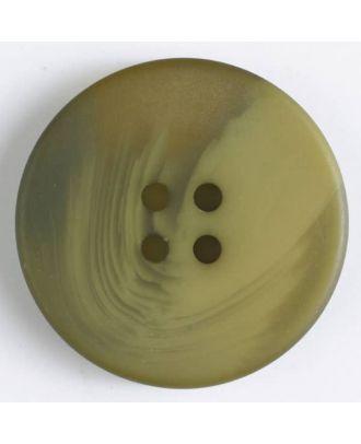 Polyesterknopf mit auffälliger Marmorstruktur mit 4 Löchern - Größe: 34mm - Farbe: grün - Art.Nr. 400233