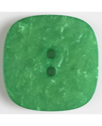 Polyesterknopf mit Löchern - Größe: 34mm - Farbe: grün - Art.Nr. 400246