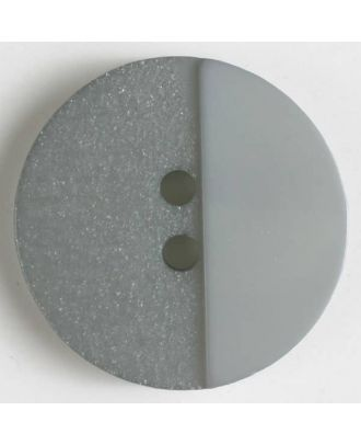 Polyesterknopf mit Löchern - Größe: 23mm - Farbe: grau - Art.Nr. 341082