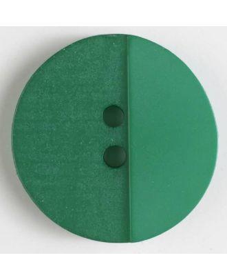 Polyesterknopf mit Löchern - Größe: 18mm - Farbe: grün - Art.Nr. 310820