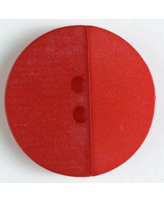Polyesterknopf mit Löchern - Größe: 18mm - Farbe: rot - Art.Nr. 310823