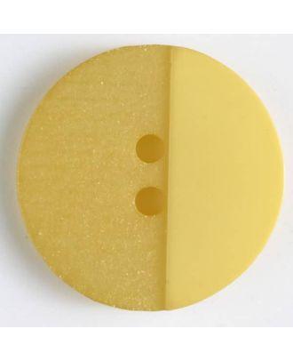 Polyesterknopf mit Löchern - Größe: 28mm - Farbe: gelb - Art.Nr. 380301