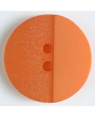 Polyesterknopf mit Löchern - Größe: 23mm - Farbe: orange - Art.Nr. 341090