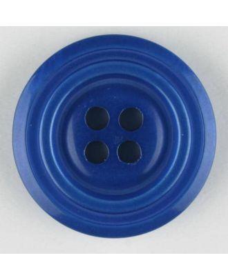 Polyesterknopf aus aneinandergesetzten Ringen, mit 4 Löchern - Größe: 28mm - Farbe: blau - Art.Nr. 380316