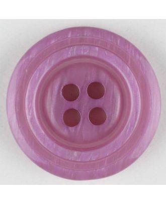 Polyesterknopf aus aneinandergesetzten Ringen, mit 4 Löchern - Größe: 20mm - Farbe: lila - Art.Nr. 330895