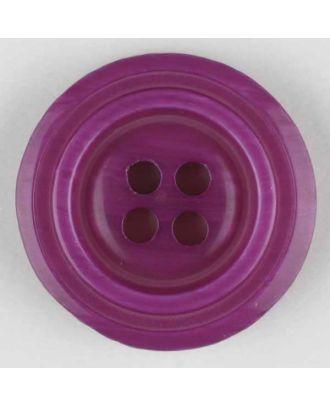 Polyesterknopf aus aneinandergesetzten Ringen, mit 4 Löchern - Größe: 28mm - Farbe: lila - Art.Nr. 380318