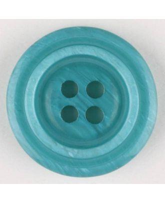 Polyesterknopf aus aneinandergesetzten Ringen, mit 4 Löchern - Größe: 28mm - Farbe: grün - Art.Nr. 380319