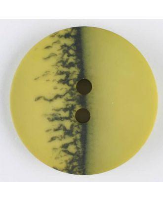Polyesterknopf, eine Hälfte marmoriert, die andere uni, rund, 2 loch - Größe: 23mm - Farbe: grün - Art.Nr. 344705