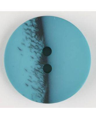 Polyesterknopf, eine Hälfte marmoriert, die andere uni, rund, 2 loch - Größe: 23mm - Farbe: grün - Art.Nr. 344706