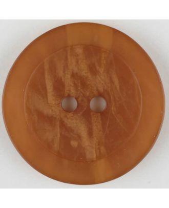 Polyesterknopf, marmoriert, mit glattem Rand, rund, 2 loch - Größe: 30mm - Farbe: braun - Art.Nr. 385702
