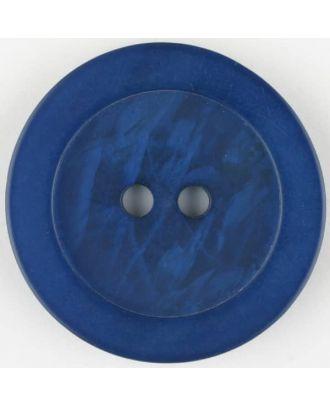Polyesterknopf, marmoriert, mit glattem Rand, rund, 2 loch - Größe: 23mm - Farbe: blau - Art.Nr. 345706
