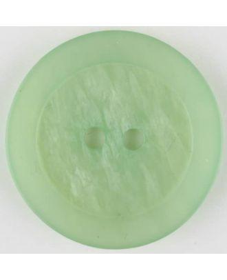Polyesterknopf, marmoriert, mit glattem Rand, rund, 2 loch - Größe: 20mm - Farbe: grün - Art.Nr. 335707