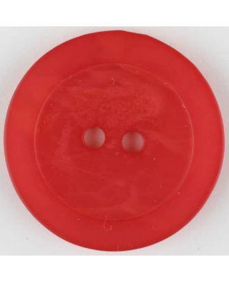 Polyesterknopf, marmoriert, mit glattem Rand, rund, 2 loch - Größe: 30mm - Farbe: rot - Art.Nr. 385710