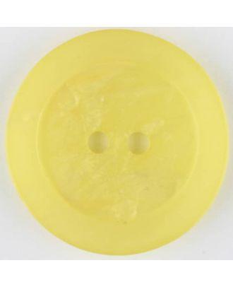 Polyesterknopf, marmoriert, mit glattem Rand, rund, 2 loch - Größe: 30mm - Farbe: gelb - Art.Nr. 385711