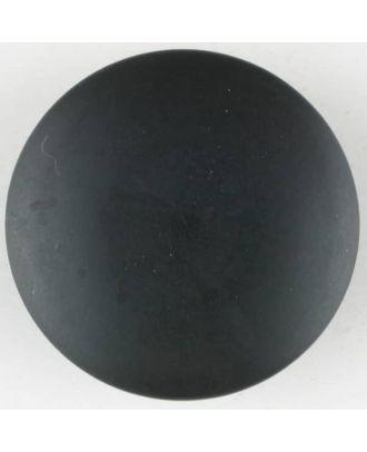 Polyesterknopf, von einem Wall durchzogen, rund, Öse - Größe: 28mm - Farbe: schwarz - Art.Nr. 380332
