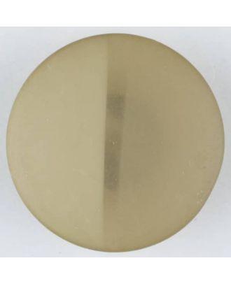 Polyesterknopf, von einem Wall durchzogen, rund, Öse - Größe: 28mm - Farbe: beige - Art.Nr. 385714