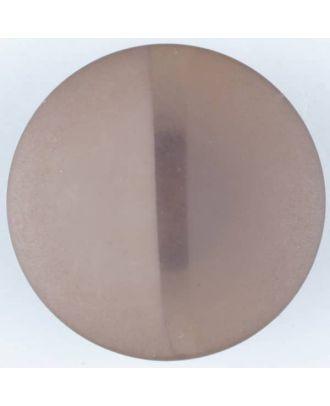 Polyesterknopf, von einem Wall durchzogen, rund, Öse - Größe: 28mm - Farbe: braun - Art.Nr. 385716