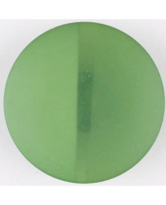 Polyesterknopf, von einem Wall durchzogen, rund, Öse - Größe: 28mm - Farbe: grün - Art.Nr. 385720