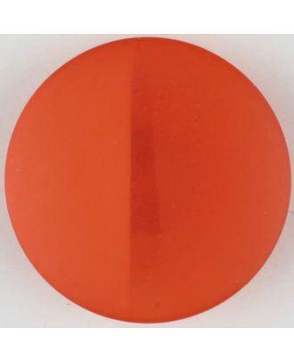 Polyesterknopf, von einem Wall durchzogen, rund, Öse - Größe: 28mm - Farbe: rot - Art.Nr. 385721