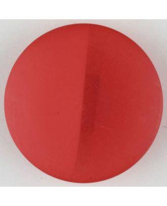 Polyesterknopf, von einem Wall durchzogen, rund, Öse - Größe: 28mm - Farbe: rot - Art.Nr. 385722