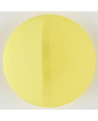 Polyesterknopf, von einem Wall durchzogen, rund, Öse - Größe: 28mm - Farbe: gelb - Art.Nr. 385724