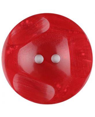 Polyesterknopf glänzend, mit Vertiefungen, rund, 2 loch - Größe: 20mm - Farbe: rot - Art.Nr. 336708