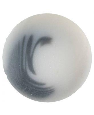 Polyesterknopf Marmoreffekt mit Öse - Größe: 30mm - Farbe: weiss - Art.Nr. 380349