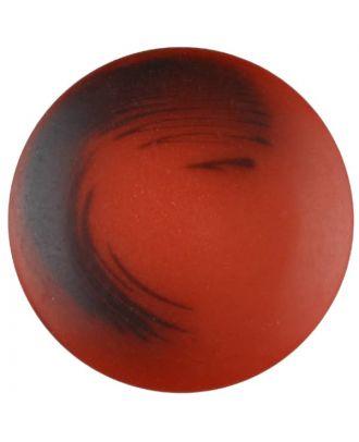 Polyesterknopf Marmoreffekt mit Öse - Größe: 20mm - Farbe: rot - Art.Nr. 337709
